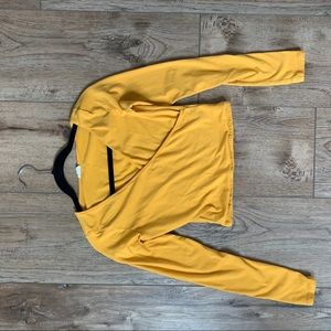 yellow long sleeve crop top